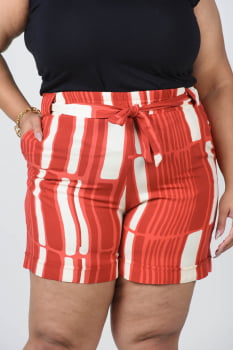 SHORT PLUS SIZE VISCOSE ESTAMPADO